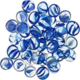 Penn Plax Aquarium Decorative Gem-Stones Pearl Blue 90 Pcs