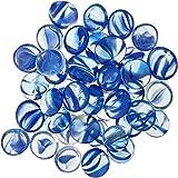 Penn Plax Aquarium Decorative Gem-Stones Pearl Blue 90 Pcs