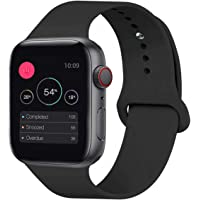KOUUNN Sport Band Compatible for Apple Watch 38mm 40mm 42mm 44mm, Soft Silicone Sport Strap Replacement Band Compatible for Apple Watch Series 5, 4, 3, 2, 1