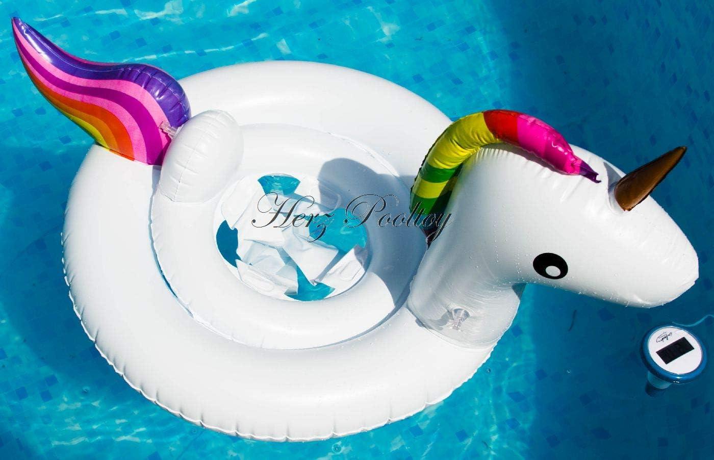 Blue Wave - Flotador Hinchable para bebé, diseño de Unicornio