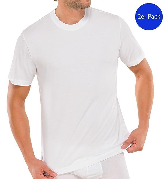 Schiesser Camiseta Interior Hombre 2 en paquete 008150-803: Amazon.es: Ropa y accesorios