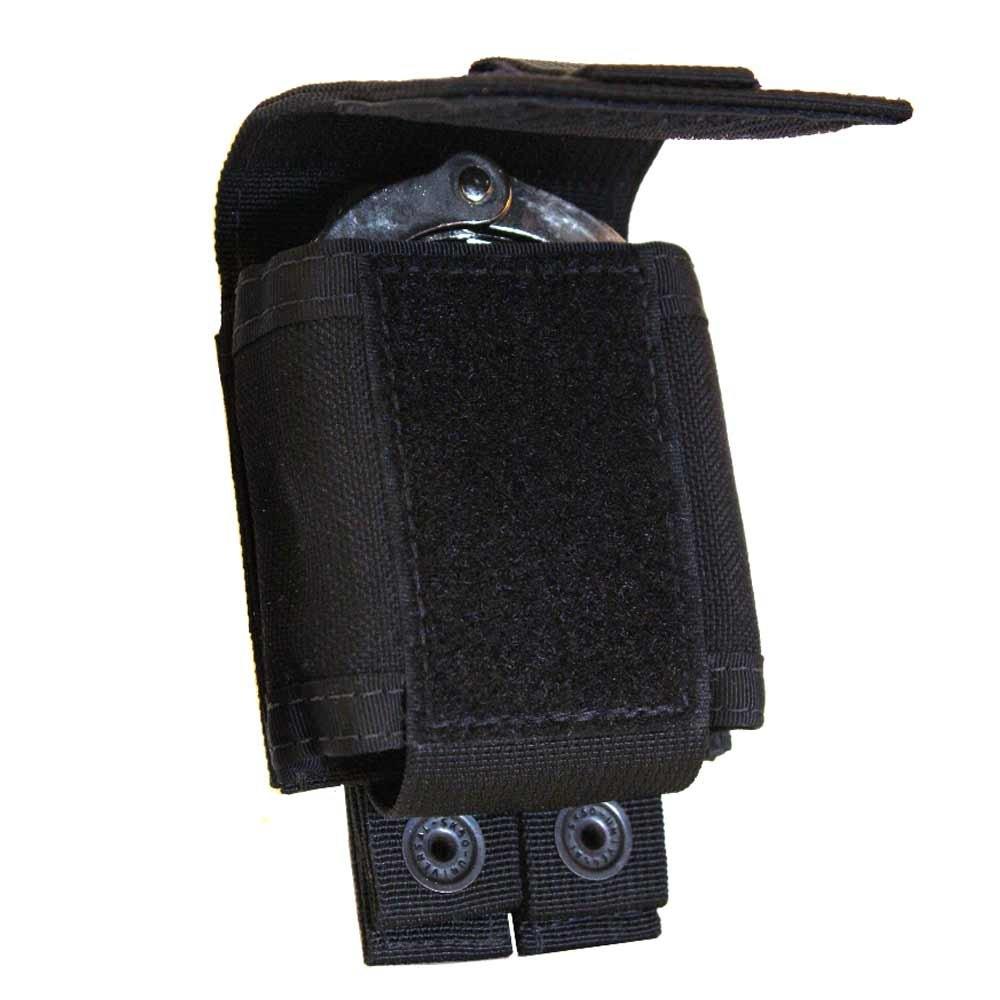 Tac Shield Single Cuff Case Molle Pouch, Black, Multi