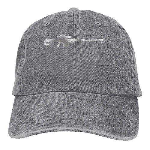 Caliber Skate (Qbeir Barrett 50 Caliber Gun Adjustable Adult Cowboy Cotton Denim Hat Sunscreen Fishing Outdoors Retro Visor Cap)