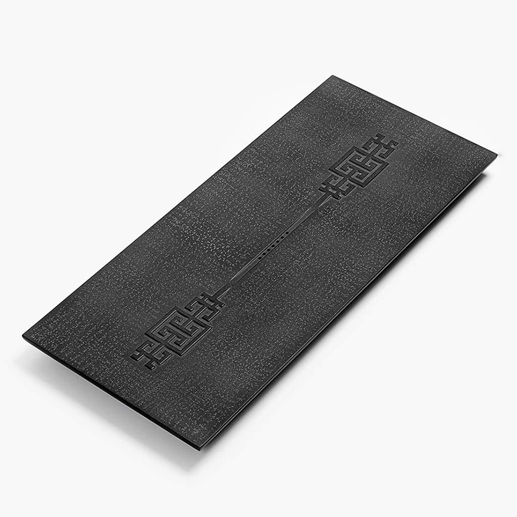 コーヒーティー用品/ティー用品 ティートレイナチュラルストーンティートレイブラックゴールドティートレイホームティーテーブルカンフーティーセットトレイホームブラックティーテーブル、隠れた排水 (Color : Black, Size : 70*35*3cm) B07LH38FYQ Black 70*35*3cm