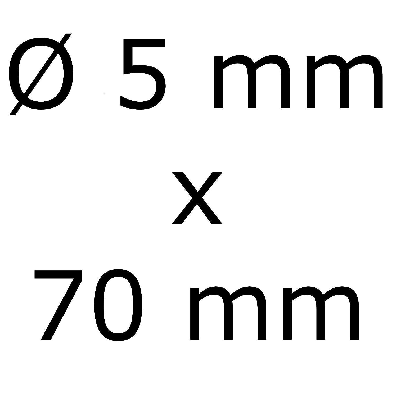 Linsenkopf und Schaelrippen aus V2A 5-mm stark 70-mm Schrauben-L/änge 400 St/ück 46-mm Teil-Gewinde Holz-Schraube Terrasse 5x70 Edelstahl Terrassen-Schraube TORX Schneidkerbe Linsenkopf