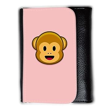Cartera para hombre // Q05210610 Monos emoji 1 Bebé rosa // Medium Size Wallet: Amazon.es: Electrónica