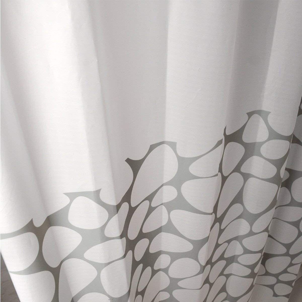 Der Creative Wild Snowflake Opaque Sunshade Padded EVA Bathroom Drilled Shower Curtain Waterproof Mildew Bathroom Accessories (Size : 150cm180cm) by Der (Image #5)