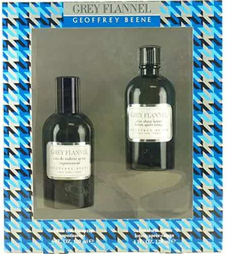 Geoffrey Beene Grey Flannel for Men 2 Piece Gift Set (4 Ounce Eau de Toilette Splash Plus 4 Ounce After Shave Lotion)