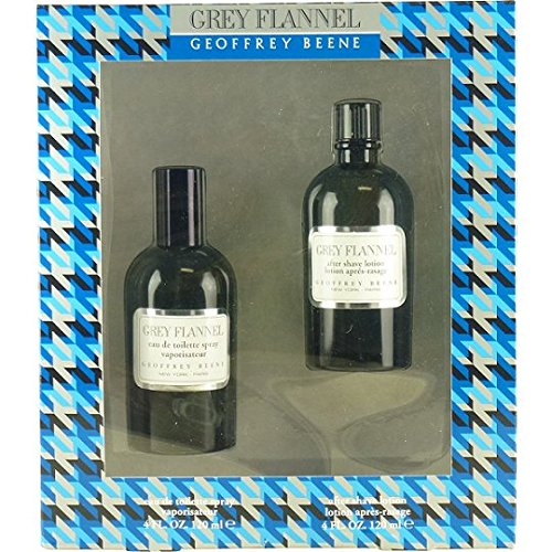 Grey Flannel by Geoffrey Beene | Fragrance for Men | Oriental Woody Scent | 2-Piece Gift Set Includes 4 oz Eau de Toilette Splash and 4 oz After Shave Lotion ()