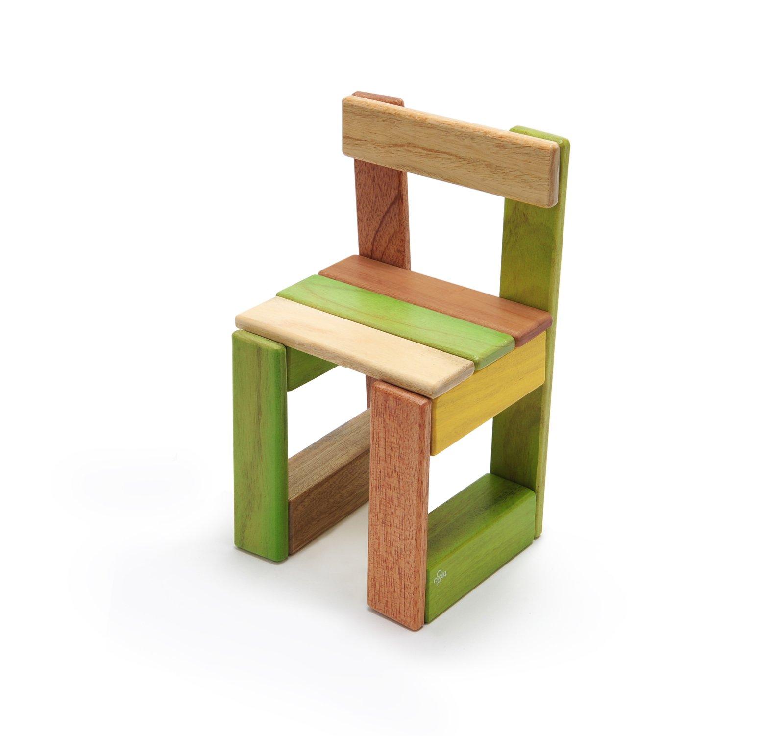 22 Piece Tegu Endeavor Magnetic Wooden Block Set, Jungle by Tegu (Image #4)
