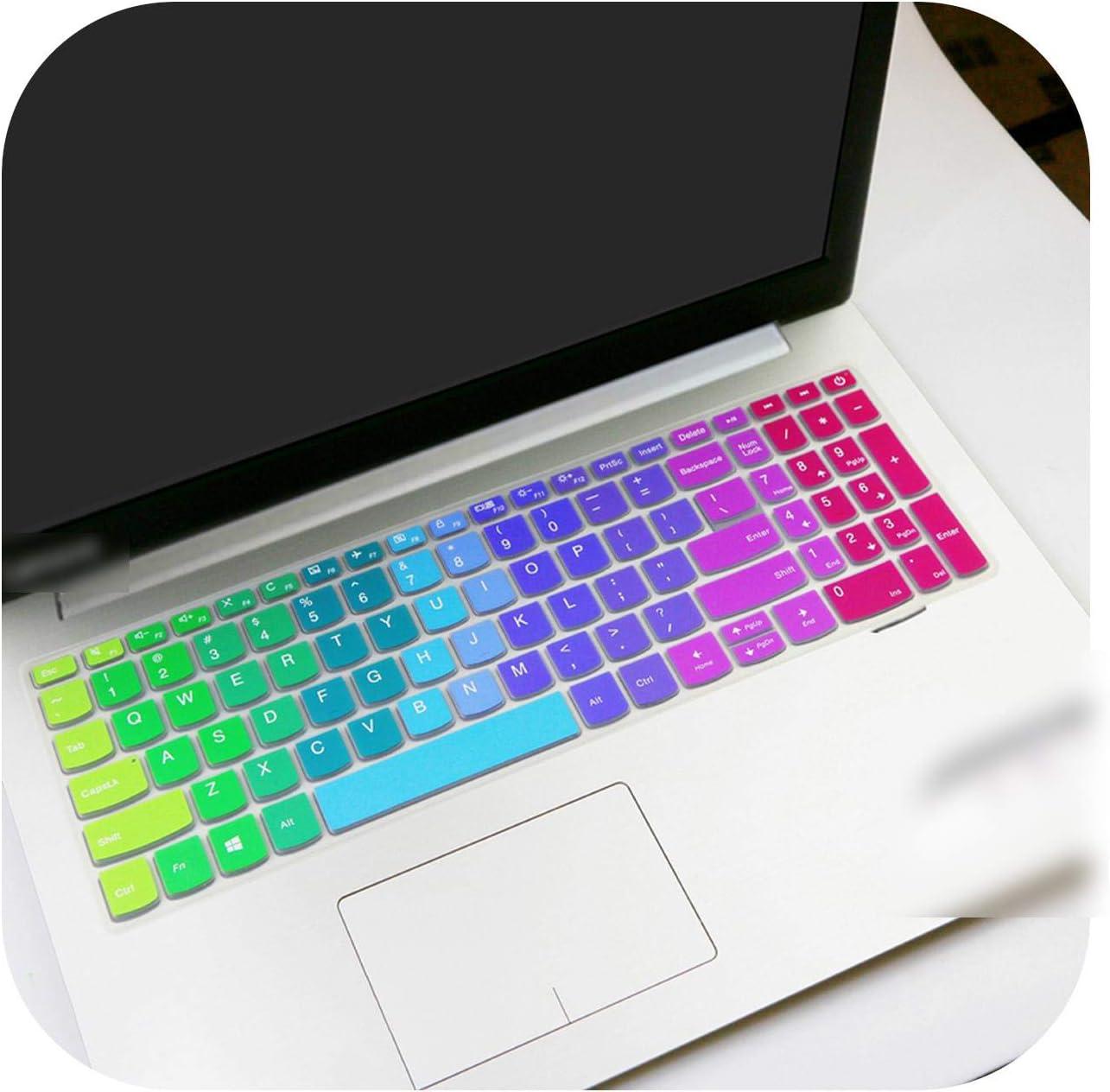 Laptop Keyboard Cover Skin Protector for Lenovo Ideapad 320 330 17 330-17 330-17Ikb 320-17Ikbr V320-17Ikb 330-17Ikbr 17.3 Inch-Rainbow-