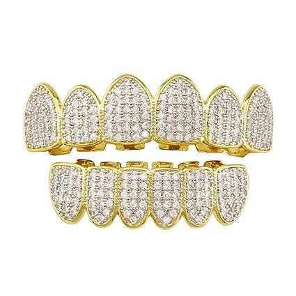Parrillas de dientes 18K chapado en oro Chapado en oro Micro ...