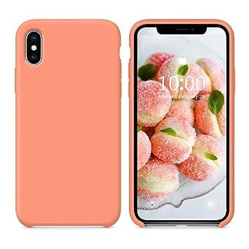 coque iphone xs peach