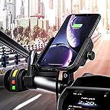Rydonair Motorcycle Phone Holder with Wireless