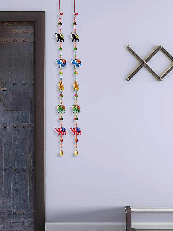 Dreamkraft Indian Decorative Elephant Door Hangings Bell Half Door Length Multicolor Kitchen Dining Amazon Com