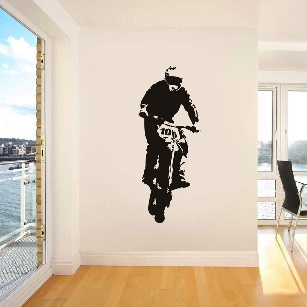 BailongXiao Bicicleta Motocicleta Tatuajes de Pared Motocicleta Conductor Wall S