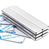 MIKEDE Strong Rare Earth Neodymium Magnets, Heavy Duty Bar Magnets with Double-Sided Adhesive, Powerful Pull Force, Perfect f