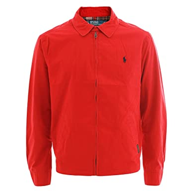 863410149b Polo Ralph Lauren Landon Windbreaker Jacket Red M: Amazon.co.uk ...