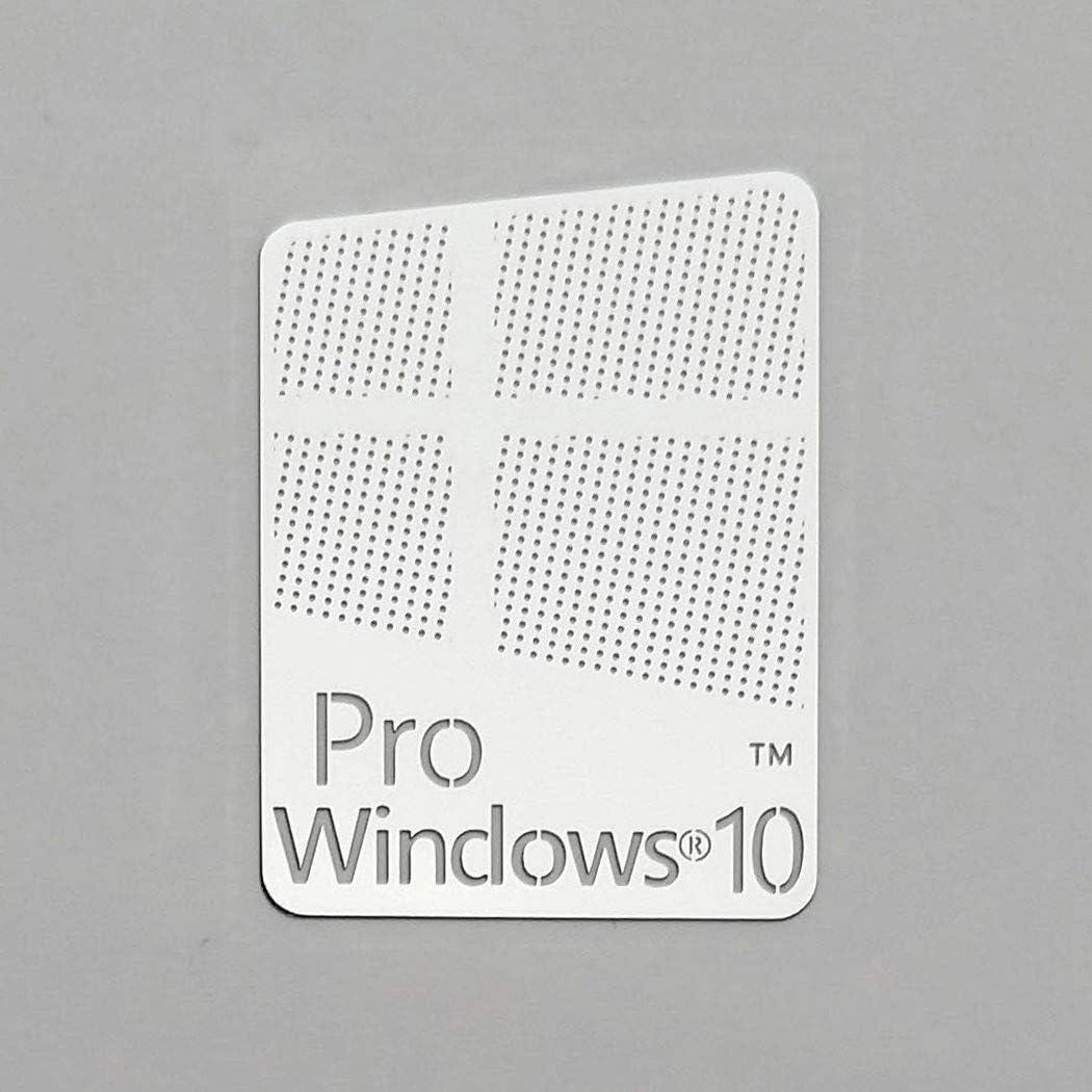 Windows 10 Pro Chrome Logo Metal Sticker Badge for Computer/Laptop PC 16mm x 22mm