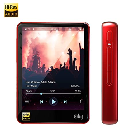 HiBy R3 Hi-Fi Lossless MP3 Player, Hi-Res Music Player with  Bluetooth/atpX/FLAC/DSD/LDAC/MQA, High Resolution Audio Player Supporting  WiFi with Full
