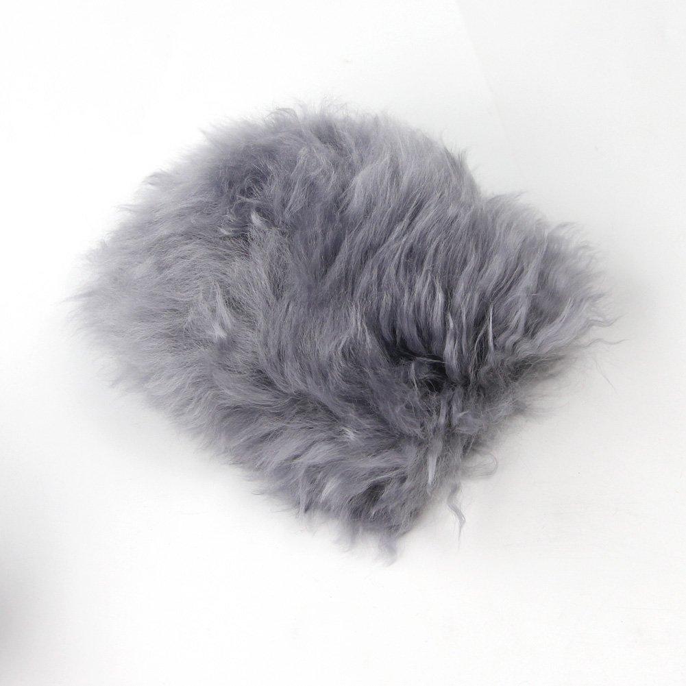 Yontree Winter Warm Faux Wool Handbrake Cover Gear Shift Cover Steering Wheel Cover 14.96x 14.96 1 Set 3 Pcs