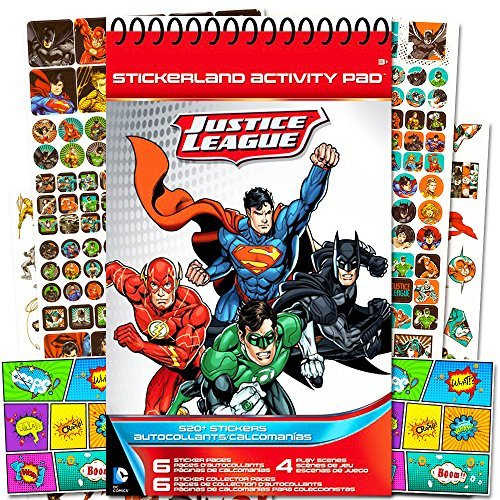 DC Comics Justice League Stickers Party Supplies Pack ~ Over 520 Stickers and 2 Licensed Jumbo Stickers
