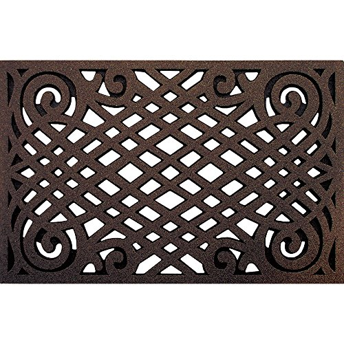 attice Door Mat, 22-Inch by 34-Inch, Coffee (Coffee Lattice)