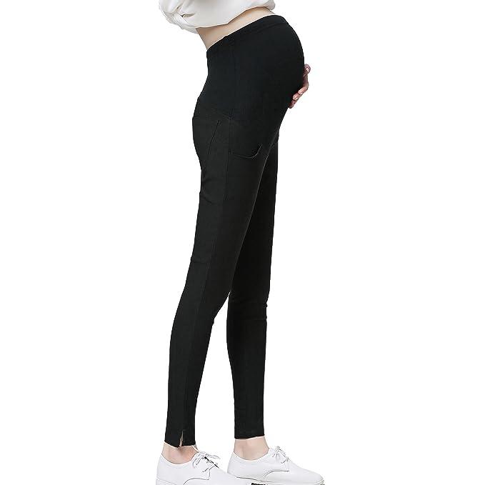 67f9041efec JOYNCLEON Pregnant Women Work Pants Stretchy Maternity Skinny Ankle  Trousers Slim for Women (S