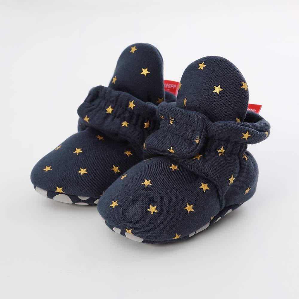 Meckior Newborn Infant Baby Girls Boys Warm Fleece Winter Booties First Walkers Slippers Shoes