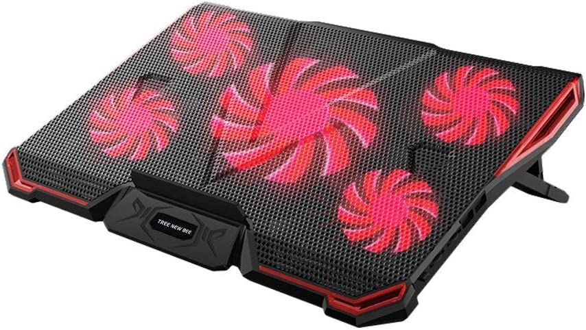Tree New Bee Laptop Cooling Pad, 14-17 Inch Laptops with Five Stong Fans TNB-K0033 (Black)