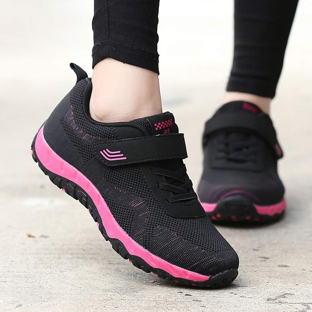 Amazon.com   Suma-ma Womens Leisure Mesh Breathable Sport Shoes Non-Slip Elderly Flat Lightweight Casual Sneaker   Shoes