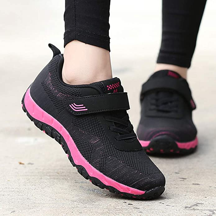 Amazon.com | Suma-ma Womens Leisure Mesh Breathable Sport Shoes Non-Slip Elderly Flat Lightweight Casual Sneaker | Shoes