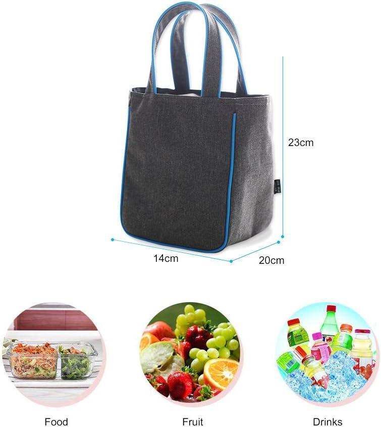 Poliestere Alluminio Tessuto Alpaca blu marino borsa termica per il pranzo borsa termica in Oxford 38cmx18cmx18cm per studenti e uffici per picnic QXuan cibo e bevande