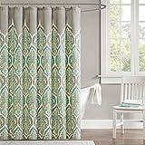 "Madison Park MP70-1628 Nisha Shower Curtain, 72 x 72"", Teal"