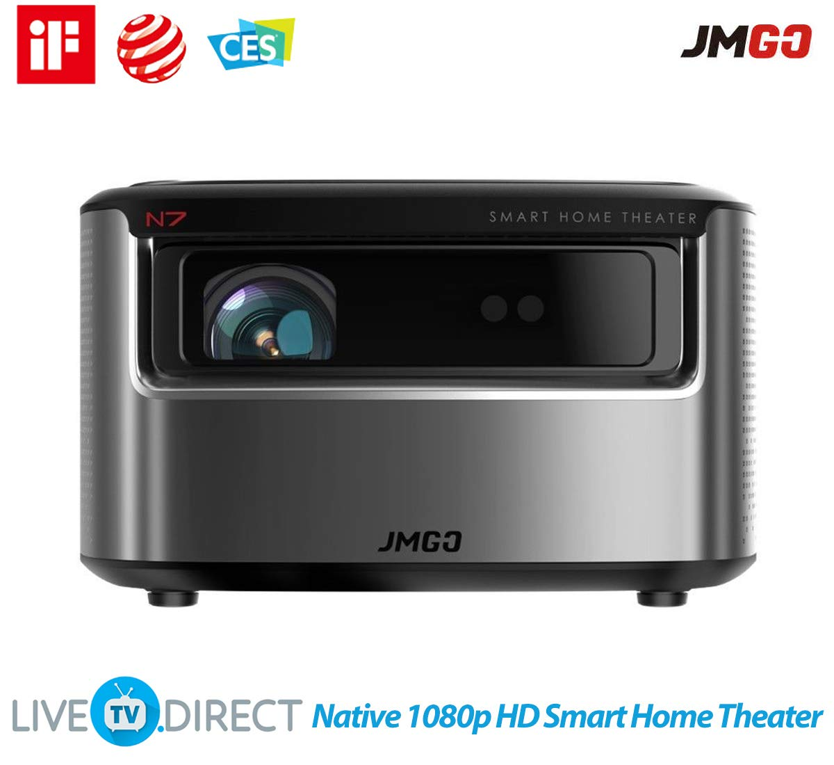 Amazon.com: Proyector, JmGO N7 Nativo 1080p HD Home Theater ...