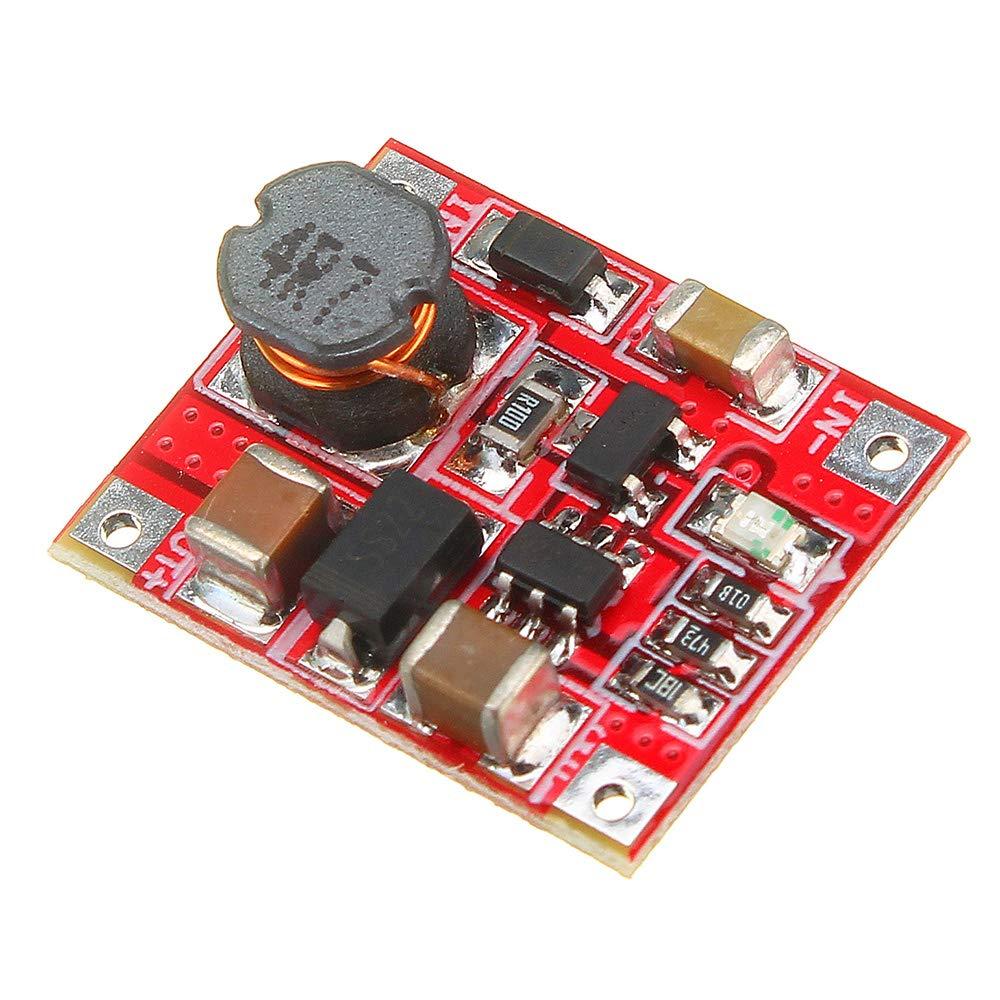 3,7 V bis 5 V 1A Lithium-Batterie-Step Up-Modul-Brett Mini Mobile Power Boost-Ladeger/ät-Modul mit Unterspannung Anzeige ILS 5 St/ück 3 V