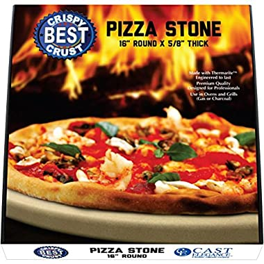 Make The Best Crispy Crust Pizza. Use the Only Pizza Stone with Thermarite (Engineered Tuff Cordierite). Durable, Certified Safe. Made for Ovens & Grills. 16 Round. Recipe Ebook+ Free Scraper