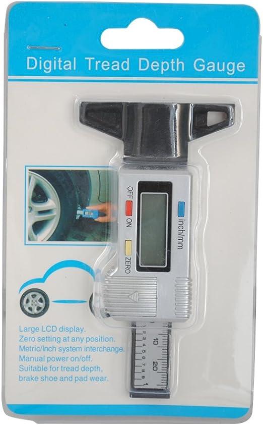 Cclife Lcd Digital Profiltiefenmesser Tiefenmesser Reifen 0 28mm 0 01mm Hohe Präzision Baumarkt