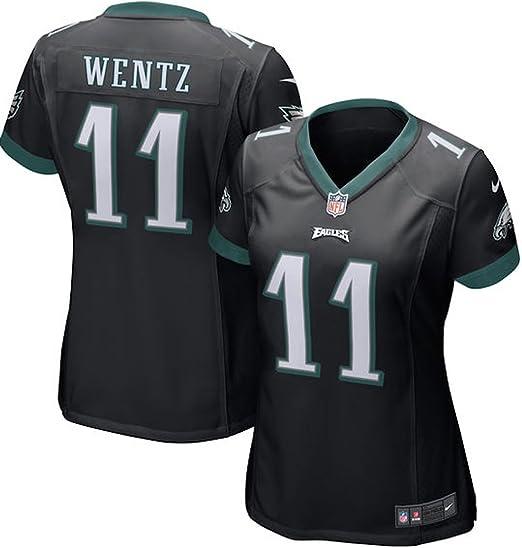 Carson Wentz Philadelphia Eagles Nike Women\u0027s Game Jersey - Black (Large)