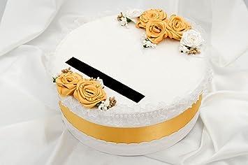 Caja de carton artesanal blanca decorada articulo para boda regalo original: Amazon.es: Hogar