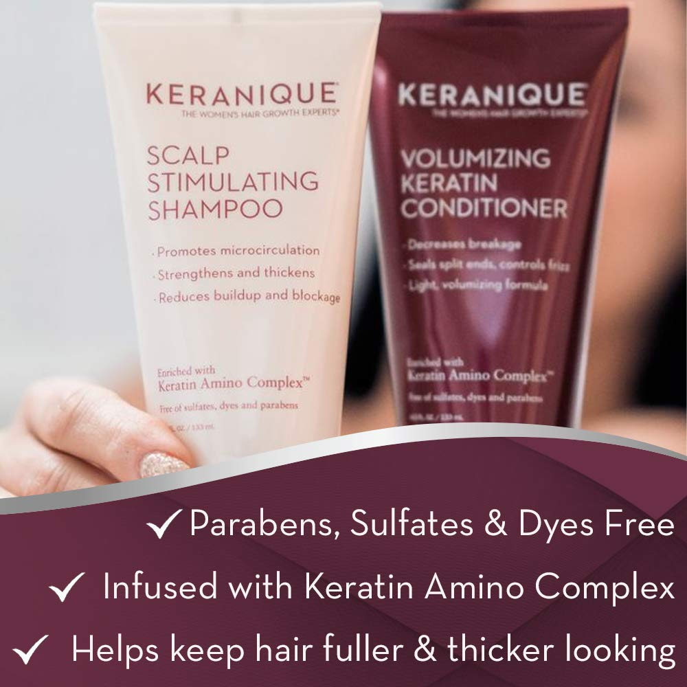 Keranique Hair Regrowth System  30 Days  Keratin Amino Complex  Free of Sulfates Dyes and Parabens