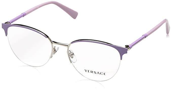 16f7c375bac Image Unavailable. Image not available for. Colour  Versace Glasses Frames  1247 1000 Lilac Silver 52mm Womens