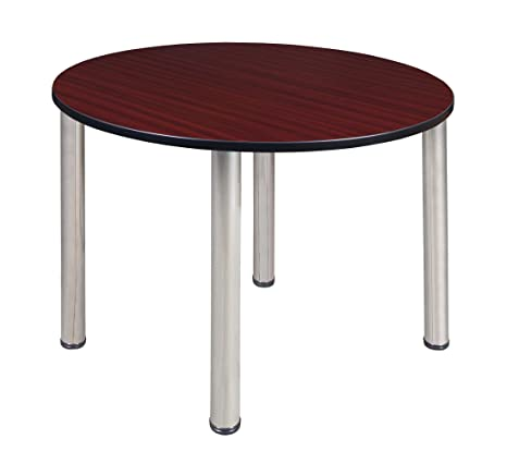 Terrific Kee 48 Round Breakroom Table Mahogany Chrome Forskolin Free Trial Chair Design Images Forskolin Free Trialorg