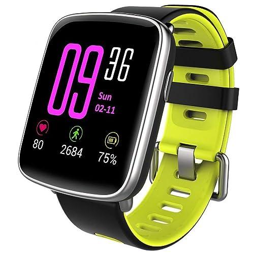 willful Smartwatch con Pulsómetro Impermeable IP68 Reloj Inteligente con Cronómetro Monitor de sueño Podómetro Calendario Control Remoto de música Pulsera Actividad para Android y iOS Verde