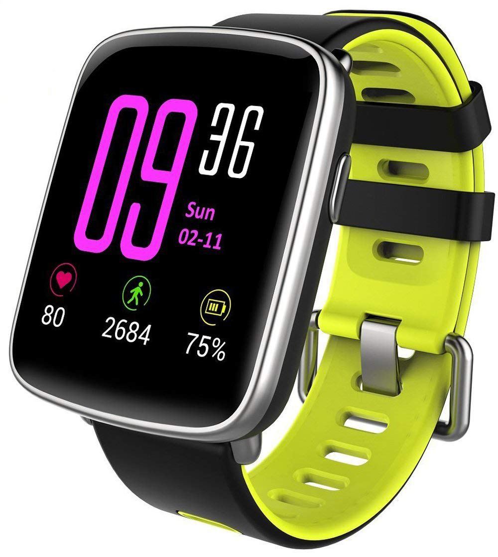 Willful Smartwatch con Pulsómetro,Impermeable IP68 Reloj Inteligente con Cronómetro, Monitor...