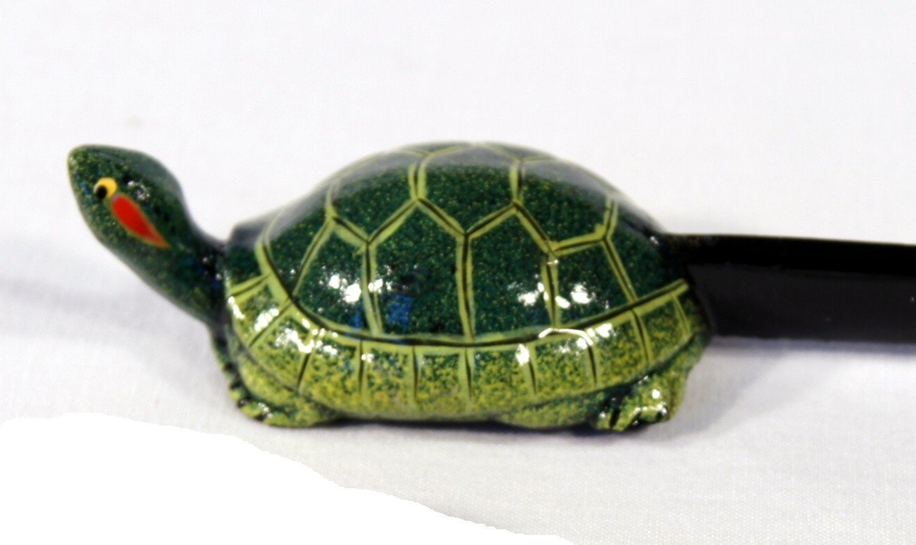 Hand Painted Green Turtle Letter Opener star
