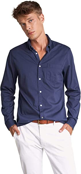 Salsa Camisa fit Slim con Textura: Amazon.es: Ropa y accesorios