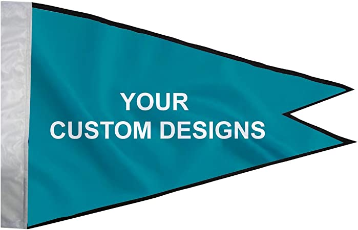 Amazon Com Banner Buzz Make It Visible Burgee Pennat Boat Flag For Events Festivals No Hardware Included 10 X 6 Single Side Print Garden Outdoor