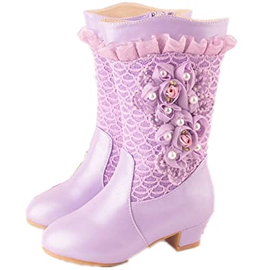 cheapest sale top brands best cheap Amazon.com | FUN.S Girls Boots 2018 Winter Shoes Princess ...