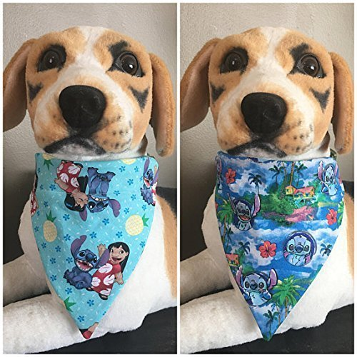 Disney Bandana - Disney Reversible Pet Bandana Lilo and Stitch Over The Collar